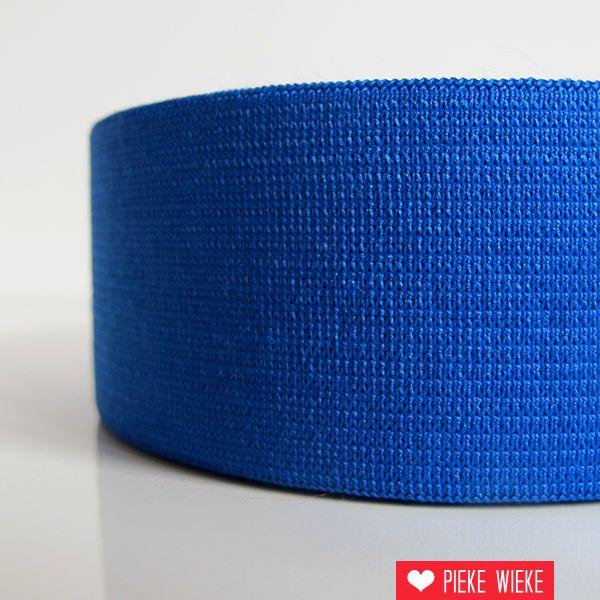 Elastiek kobalt blauw 40mm