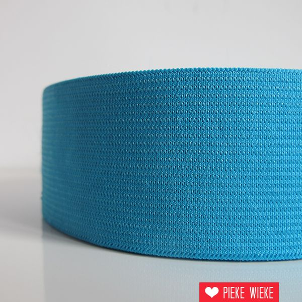 Elastiek fel blauw 40mm