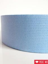 Elastiek licht blauw 40mm