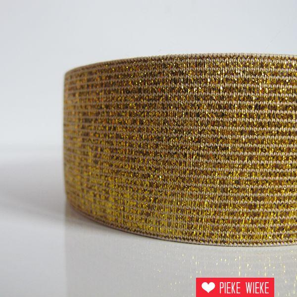Elastiek goud 40mm