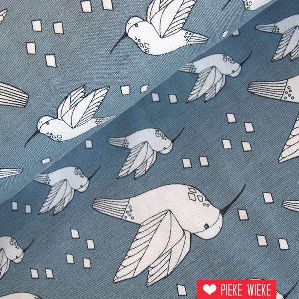 Elvelyckan Design Tricot Hummingbird grijsblauw