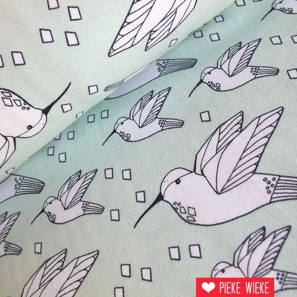 Elvelyckan Design Tricot Hummingbird mint