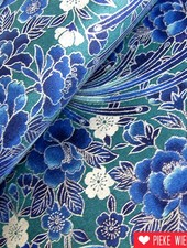 Katoen Ryoran Birds Turquoise
