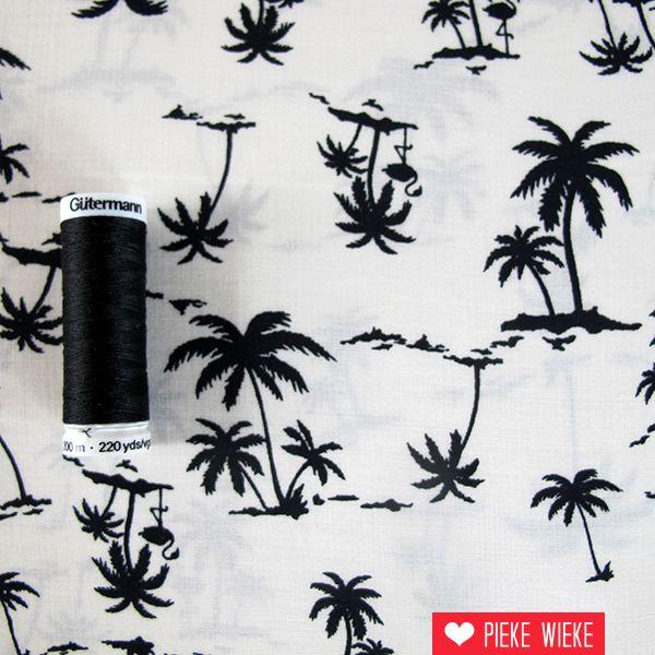 Viscose palmbomen creme