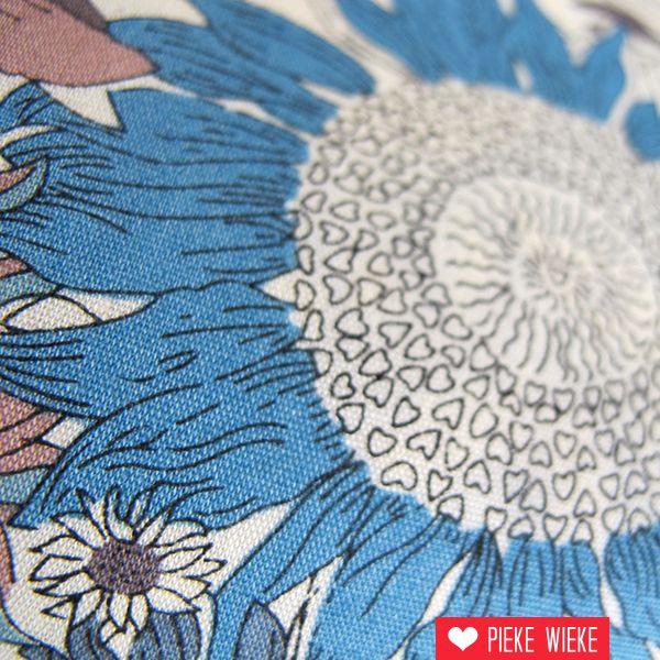 Liberty Sunflowers blauw - groen