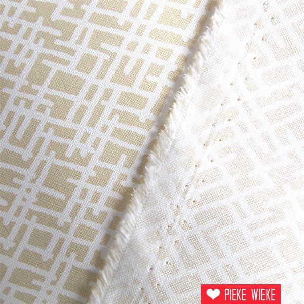 Katoen beige criss cross