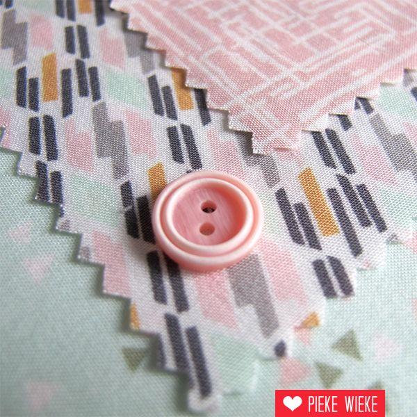 Roze knoopje 12mm