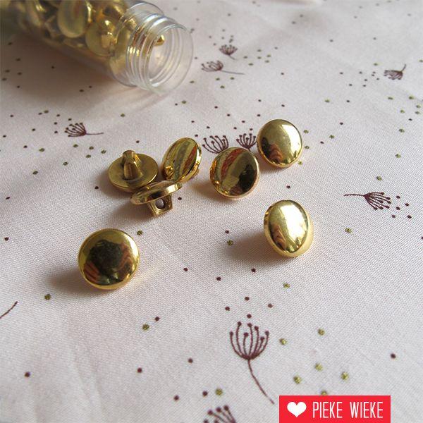 Gouden knoopje 10mm