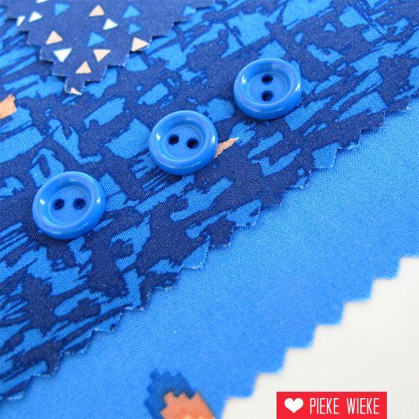 Blue button 10mm
