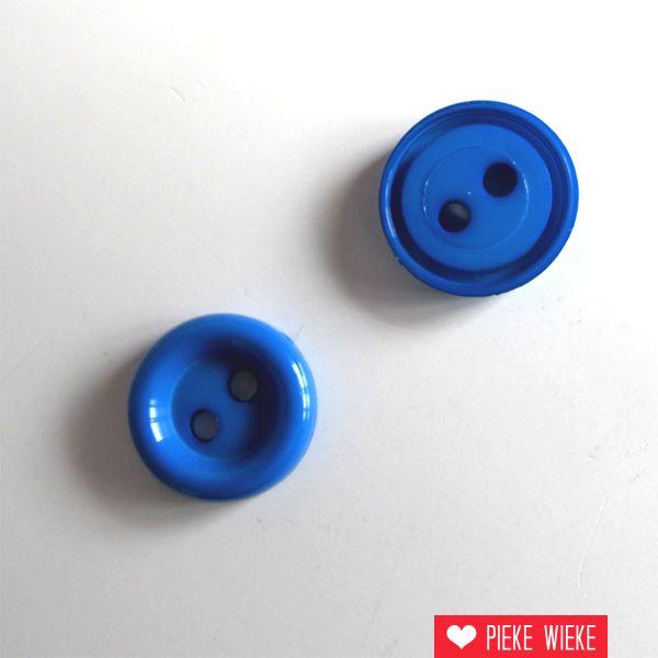 Blauw knoopje 10mm