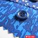 Parelmoer blauw knoopje 10mm