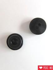 Zwart knoopje 10mm