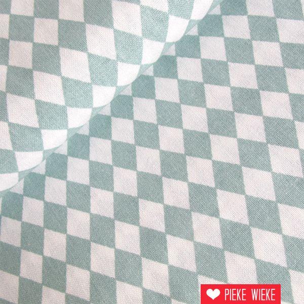 Rico design Fijne ruit ijs blauw