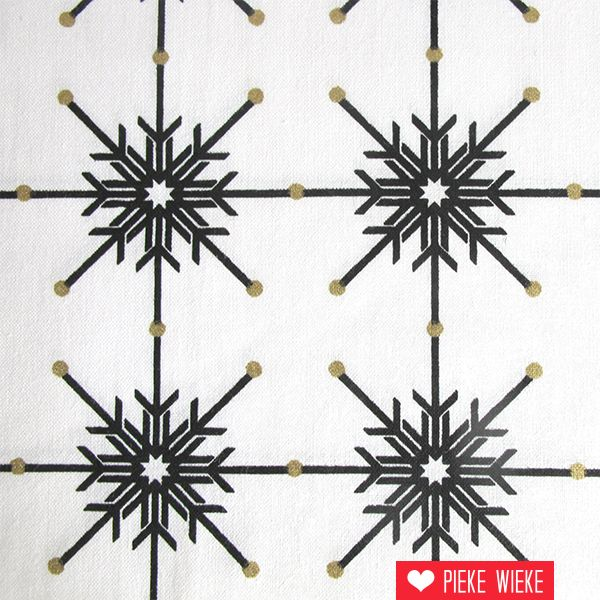 Rico design Ice crystals black gold