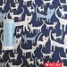 Double Gauze Cats blue