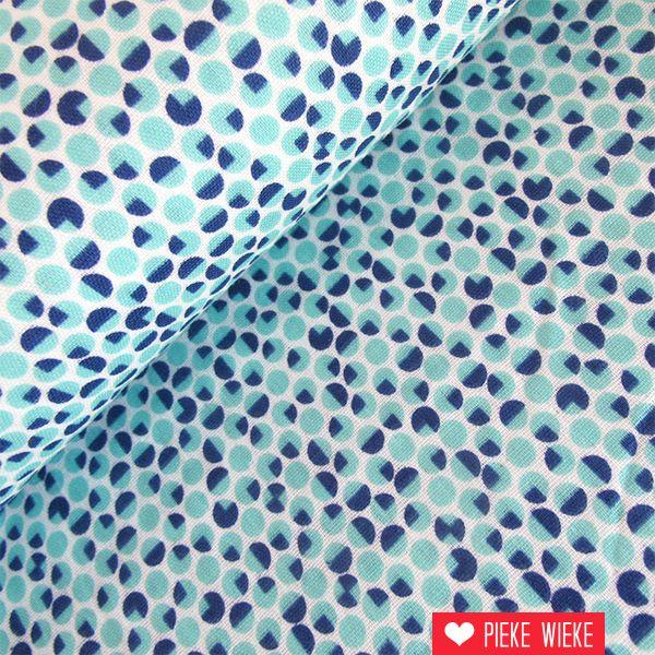 Kokka Double Gauze Frame work blue