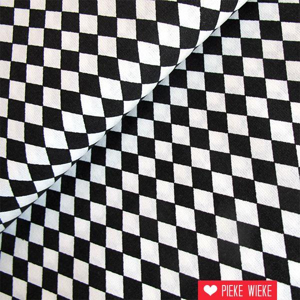 Rico design Fijne ruit zwart
