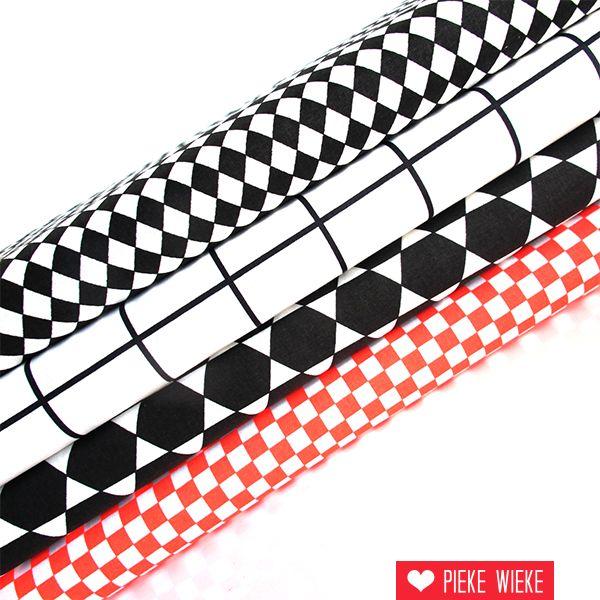 Rico design Checked zwart