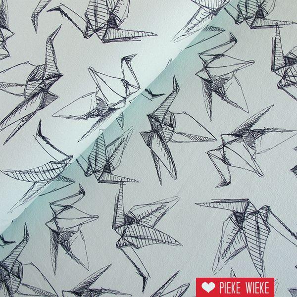 Sweat Sketched birds mint