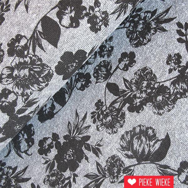 Sweat flowers grijs zwart