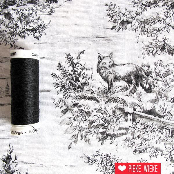 Woodland forest Toile de jouy