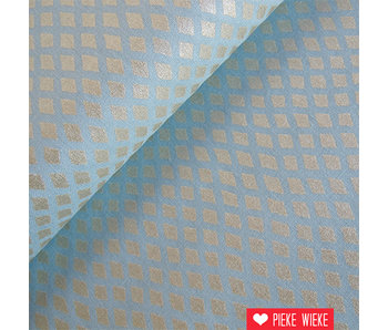 Robert Kaufman Shimmer diamond blauw