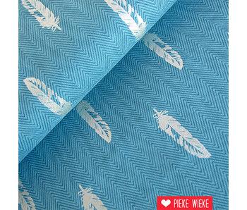 Robert Kaufman Shimmer feathers blauw