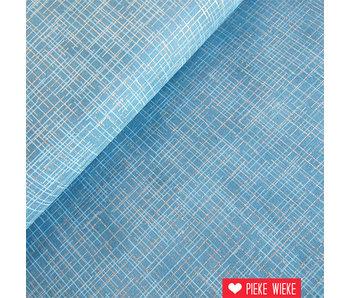Robert Kaufman Crisscross metalic blue