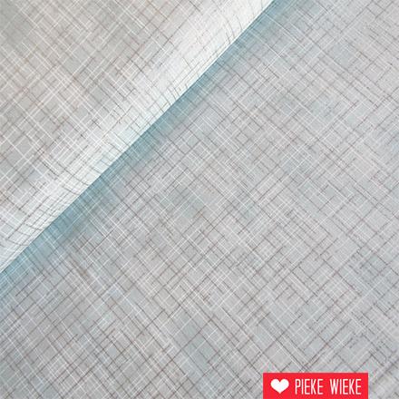 Robert Kaufman Crisscross metalic ijsblauw