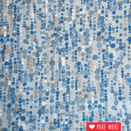 Robert Kaufman Sound of the woods confetti blauw