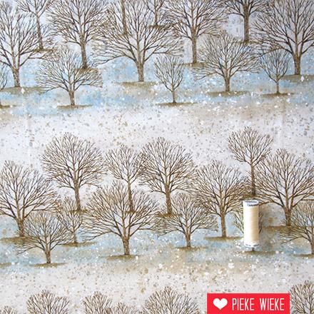 Robert Kaufman Sound of the woods bomen beige