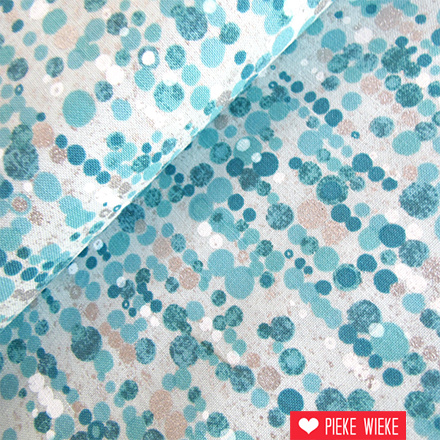 Robert Kaufman Sound of the woods confetti turquoise