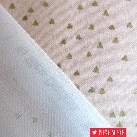 Rico design Driehoekjes confetti goud zachtroze