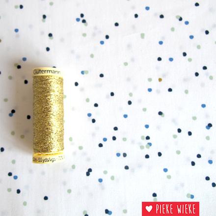 Rico design Confetti Blauw - goud