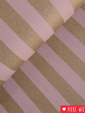Rico design Stripes Roze - goud