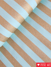 Rico design Stripes Mint - goud