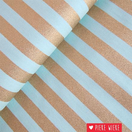 Rico design Stripes Mint - gold