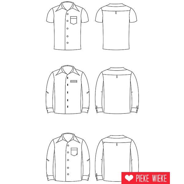 Zonen 09 Patroon Theo hemd Tieners