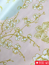 Rico design Geïmpregneerd katoen kersenbloesem goud