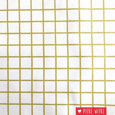 Rico design Geïmpregneerd katoen goud geruit