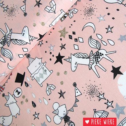 Poppy Circus stars glitter pink