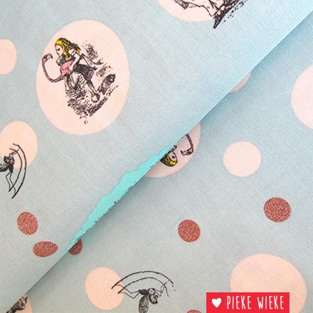 Double Gauze Alice in Wonderland mint