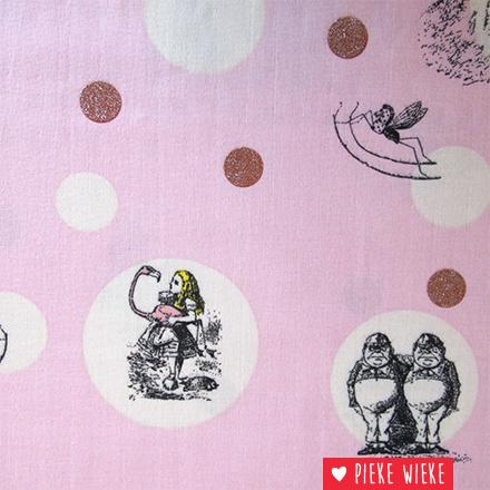 Double Gauze Alice in Wonderland pink