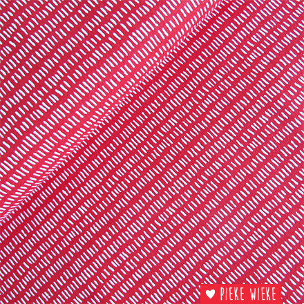 Rico design Interlock Strokes red