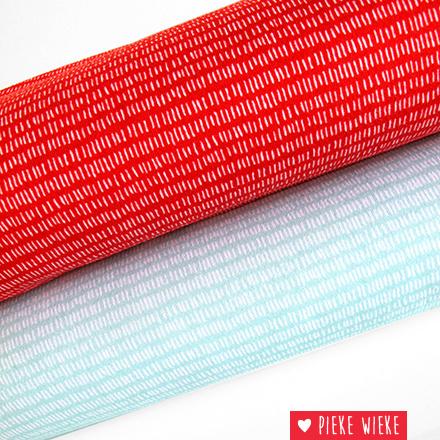 Rico design Interlock strokes rood
