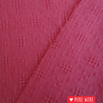 Uni ajour roze rood