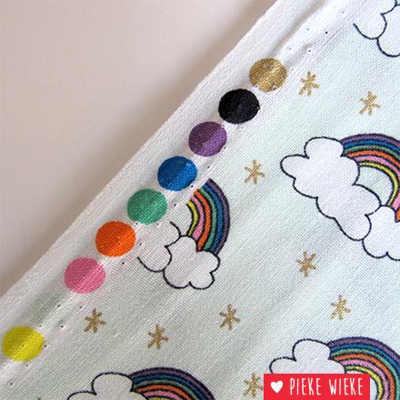 Rico design Katoen regenbogen