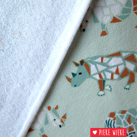 Poppy Sweat Rhino geometric groen