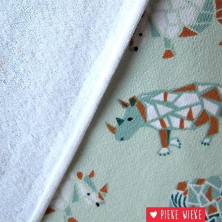 Poppy Sweat Rhino geometric groen