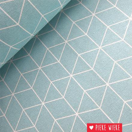 Canvas Geometric blauw